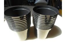 1 LITRE BLACK ROUND PLASTIC PLANT POT  - PRICED INDIVIDUALLY