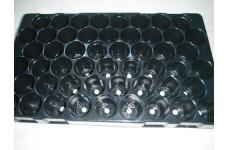 BLACK POLYSTYRENE 51 CELL 5CM PLUG PLANT SEED GROWING TRAY (Plug Volume: 63cc)   - PRICED INDIVIDUALLY