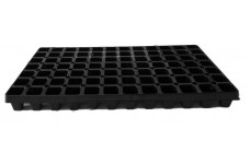 BLACK POLYSTYRENE 84 CELL PLUG PLANT SEED GROWING TRAY (Plug Volume: 26cc )   - PRICED INDIVIDUALLY