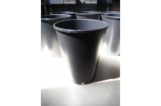 3 LITRE DEEP ROUND BLACK PLASTIC ROSE PLANT POT  - PRICED INDIVIDUALLY